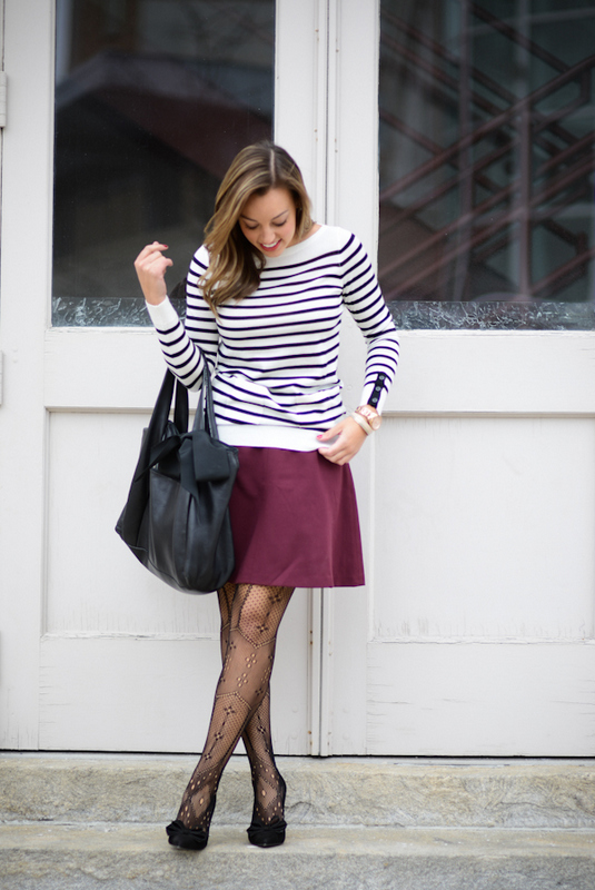 Sharing My Sole - Burgundy and Stripes