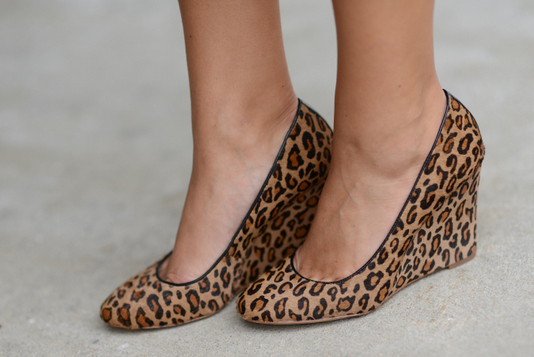 Sharing My Sole - Leopard Wedges