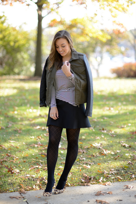 Sharing My Sole - Stripes & Tights