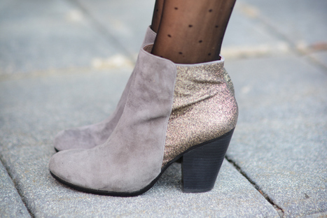 Sharing My Sole - Glittered Heel Booties
