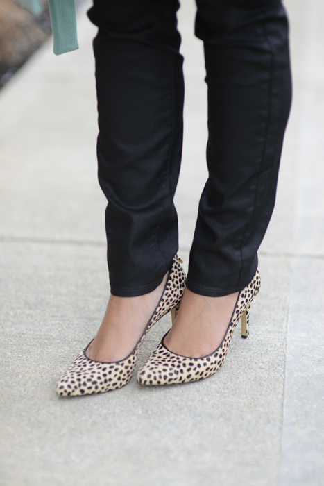 Ann Taylor Spotted Heels