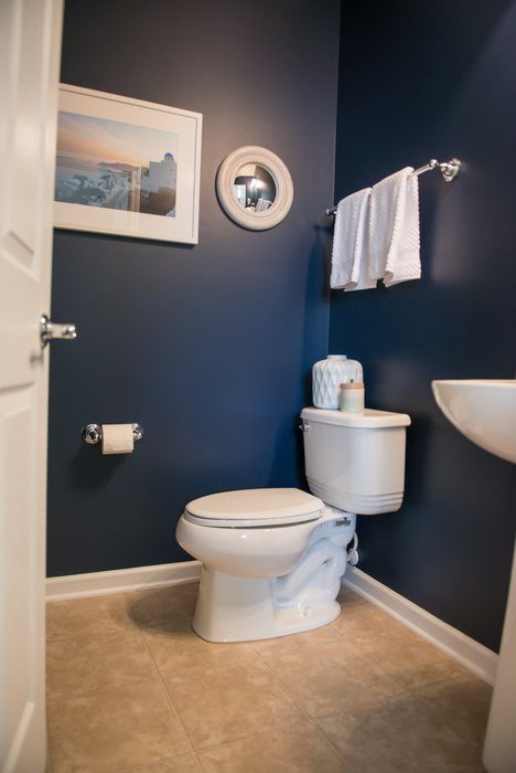 Navy Bathroom Makeover_Sherwin Williams Naval Color