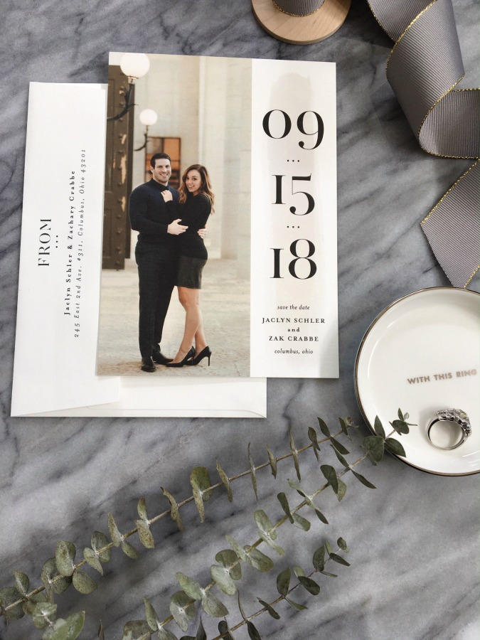 our save the dates with minted sharing my sole